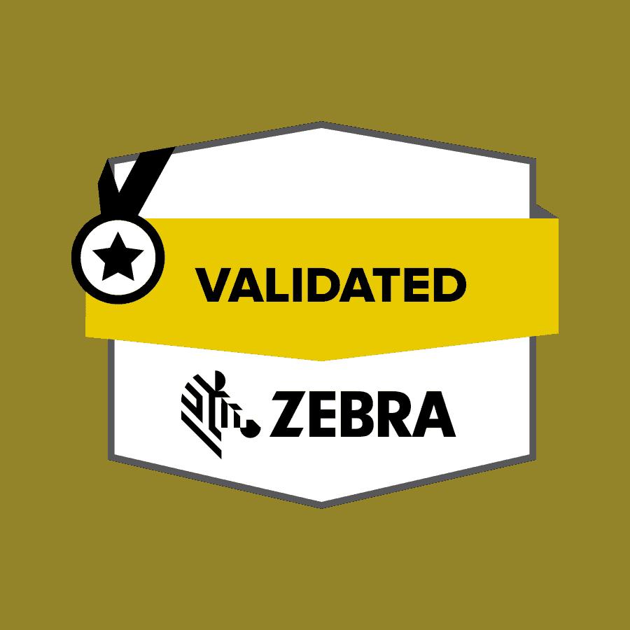 Zebra Validated Badge Color